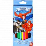 Набор трёхгранных карандашей «Dc Super Friends» 12 цветов.