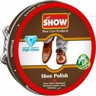 Классический крем для обуви «Show» коричневый, в шайбе, 50 мл.