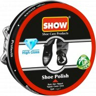 Классический крем для обуви «Show» черный, в шайбе, 50 мл.