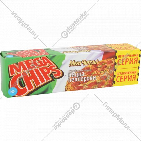 Чипсы картофельные «Mega Chips» со вкусом пиццы пепперони, 100 г.