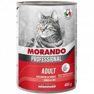 Корм для кошек «Miglior Gatto» кусочки с говядиной, 405 г.