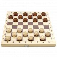 Шашки деревянные «Десятое королевство» в деревянной коробке.