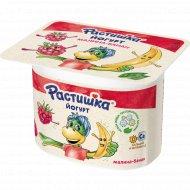 Йогурт «Растишка» c малиной и бананом 3%, 110 г.