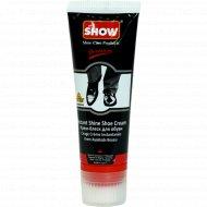 Крем для обуви в тубе «Show» черный, с губкой, 75 мл.