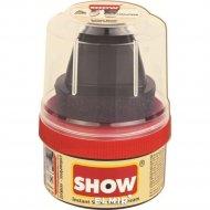 Крем-блеск для обуви «Show» бесцветный, с губкой, 50 мл.