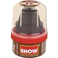 Крем-блеск для обуви «Show» темно-коричневый, с губкой, 50 мл.