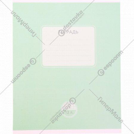 Тетрадь «Новая однотонная» в линейку, 12 листов.