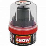 Крем-блеск для обуви «Show» черный, с губкой, 50 мл.