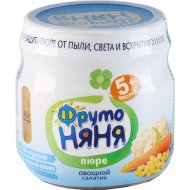 Пюре «Фрутоняня» овощной салатик, 80 г.