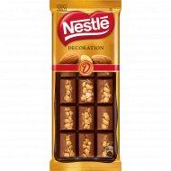 Темный и молочный шоколад «Nestle» с миндалем, 80 г.