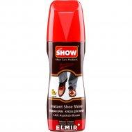 Крем-краска для обуви «Show» темно-коричневый, с губкой, 75 мл.