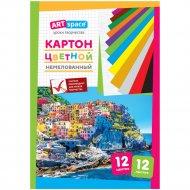 Картон цветной «ArtSpace» A4, 12 листов, 12 цветов