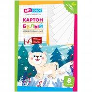 Картон белый «ArtSpace» снежный барс, 8 листов, A4