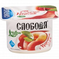 Биойогурт «Слобода» с персиком, 2.5%, 125 г.