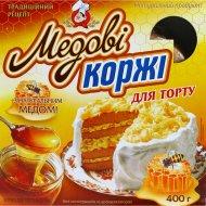 Коржи для торта «Медовые», 400 г.
