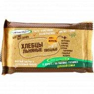 Хлебцы «Zai Cracker» льняные, овощные, с морковью и луком, 50 г.