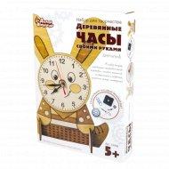 Набор деревянные часы своими руками «Зайчонок» с тонером.