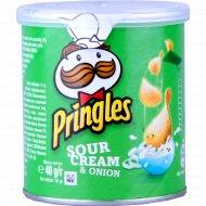 Чипсы «Pringles» со вкусом сметаны и лука 40 г.