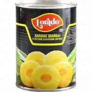 Ананасы «Lorado» шайбы в легком сахарном сиропе, 580 мл.