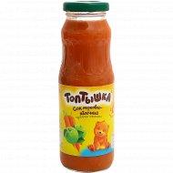 Сок «Топтышка» морковно-яблочный с мякотью, 250 мл.