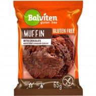 Маффин темный «Balviten» с кусочками шоколада, 65 г