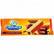 Вафли с начинкой с шоколадным кремом, 270 г.