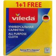 Салфетка«Vileda» универсальнаявискозная,1+1 шт.
