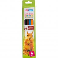 Карандаши цветные «ArtSpace» животный мир, 6 цветов
