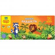 Акварель «Мульти-Пульти» енот в джунглях, 12 цветов