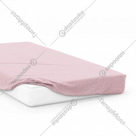 Простыня на резинке «Samsara» Розовый зефир, 200x160, Сат160Пр-5