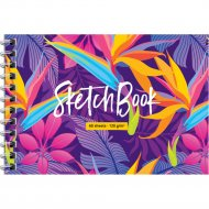 Скетчбук-блокнот А6 «ArtSpace» Bright tropics, 60 листов