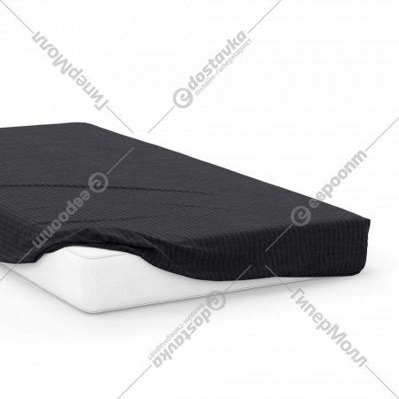 Простыня на резинке «Samsara» Черный, 200x160, Сат160Пр-10