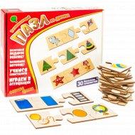 Развивающий пазл «Формы и цвета» из дерева, 30 элементов.