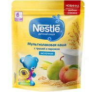 Молочная мультизлаковая каша «Nestle» груша и персик, 220 г.