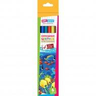 Карандаши цветные пластиковые «ArtSpace» подводный мир, 6 цветов