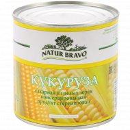 Кукуруза сахарная «Natur Bravo» консервированная, 340 г.