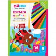 Цветная бумага A4 «Божья коровка» 8 листов, 16 цветов
