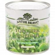 Горошек зеленый «Natur Bravo» из мозговых сортов, 420 г.