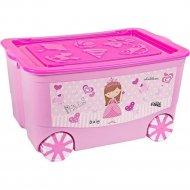 Ящик «Эльфпласт» KidsBox, EP449, Розовый