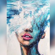 Картина по номерам «Picasso» Вода все еще течет, PC4050709