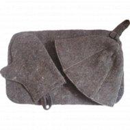 Набор для сауны «Эконом» колпак, рукавица, коврик, темный
