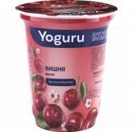 Йогурт «Yoguru» с фруктовым наполнителем вишня, 1.5%, 310 г