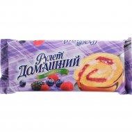 Рулет бисквитный «Домашний» ягодный сбор, 150 г