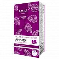 Платочки бумажные «Amra» лилия, 10 шт.
