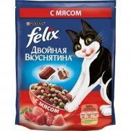 Сухой корм «Felix» двойная вкуснятина для кошек, с мясом, 750 г.