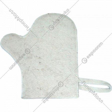 Рукавица для сауны «Эконом» светлая