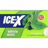 Жевательная резинка «Ice-X» без сахара, со вкусом белой мяты, 16.8 г.