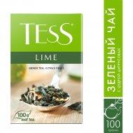 Чай зелёный «Tess» c ароматом лайма 100 г.
