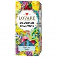 Чай черный «Брызги шампанского» с ароматом земляники, 24 пакетика.