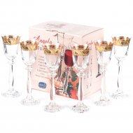 Набор бокалов для вина «Bohemia Crystal» Angela, 6 шт, 185 мл